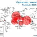 Les origines des candidatures  Infectiopôle Sud